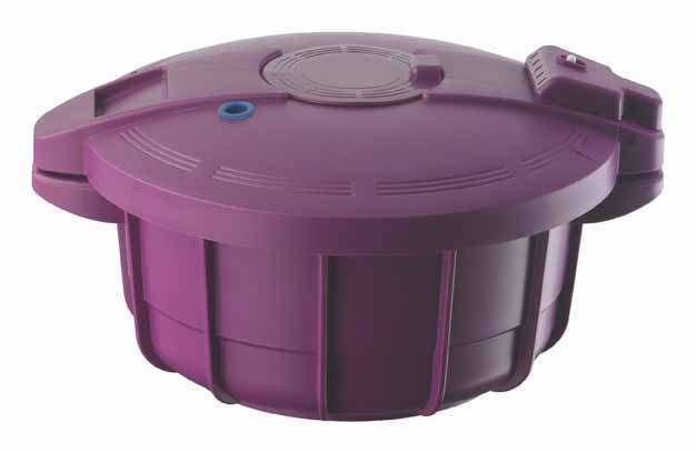 2.2L Microwave Pressure Cooker - Purple