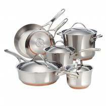 Anolon Nouvelle Stainless Steel 6 piece pan set